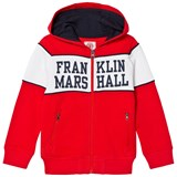 Franklin & Marshall Red Logo Chest Full Zip Hoody