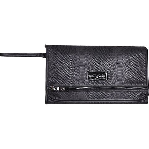 Tiba + Marl Black Etta Changing Clutch