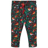 ANÏVE for the minors Black Floral and Bird Printed Pants