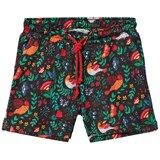 ANÏVE for the minors Black Multicoloured Floral and Bird Print Shorts