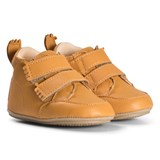 Easy Peasy Mustard Yellow IZI V Velcro Leather Pre Walker Shoes