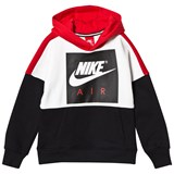 Nike Red, Black and White Colourblock Air Hoody