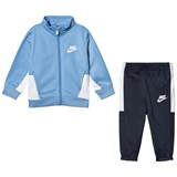 Nike Blue and Navy Futura Tricot Top and Bottoms Set