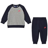 Nike Navy and Grey Futura Sweater and Sweatpants Set