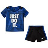 Nike Navy and Black Legacy Just Do It T-Shirt and Shorts Set