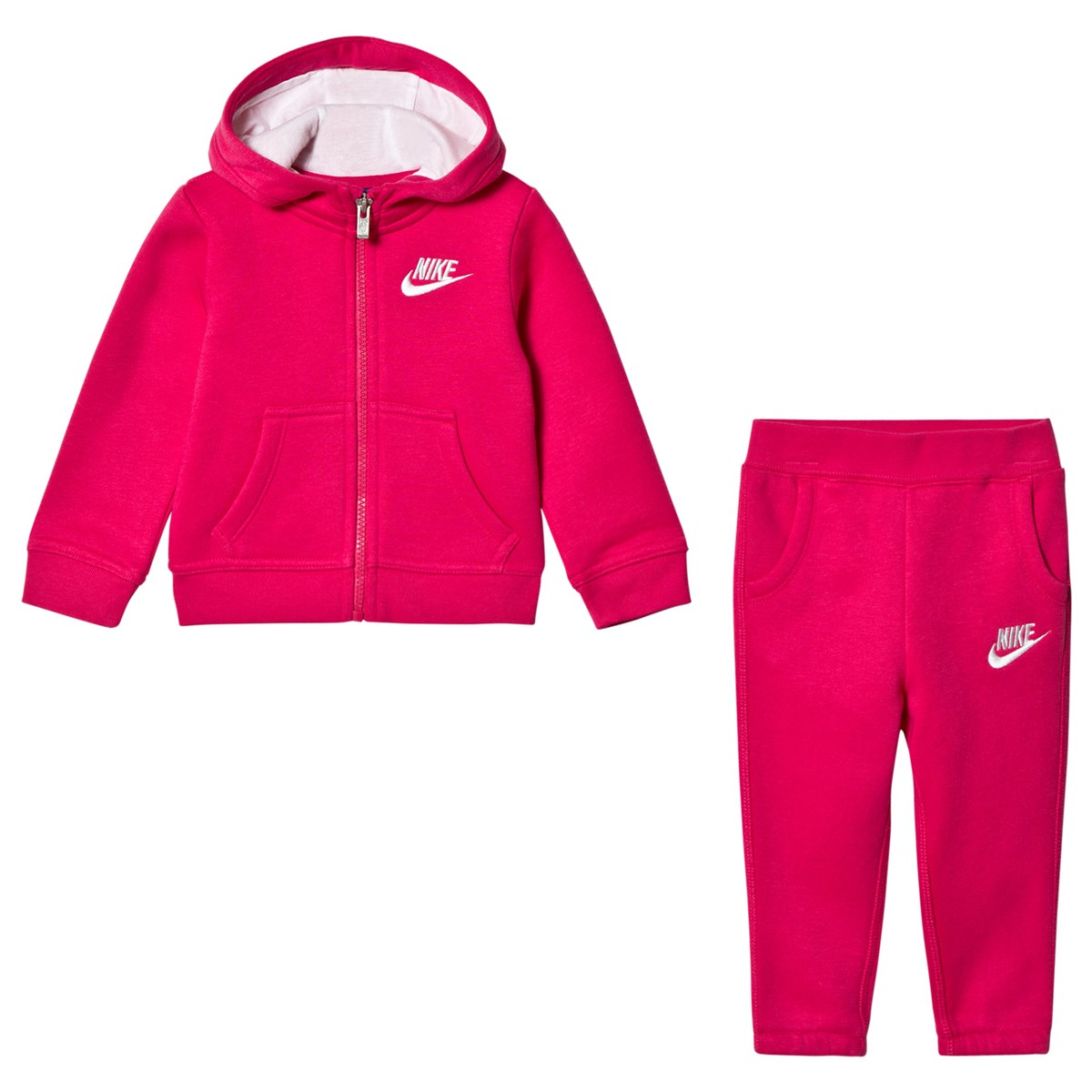 1c561504117a Nike Pink Club Fleece Hoodie and Sweatpants Set