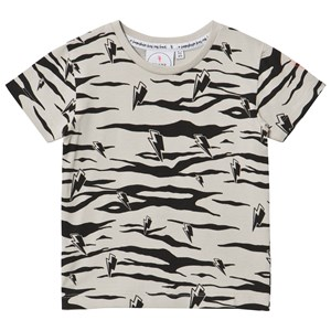 SCAMP & DUDE   Scamp & Dude Grey And Black Tiger Stripe T-Shirt 1-2 Years   Goxip