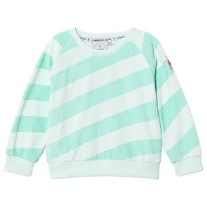 SCAMP & DUDE | Scamp & Dude Mint And Green Stripe Sweatshirt 7-8 Years | Goxip