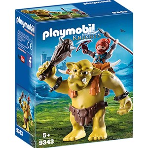 Playmobil 9343 Giant Troll with Dwarf Fighter 5 - 12 years