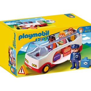 Playmobil 6773 1.2.3 Airport Shuttle Bus 5 - 10 years