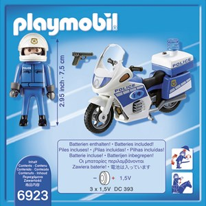 Playmobil Police Bike with LED Light 4 - 10 years