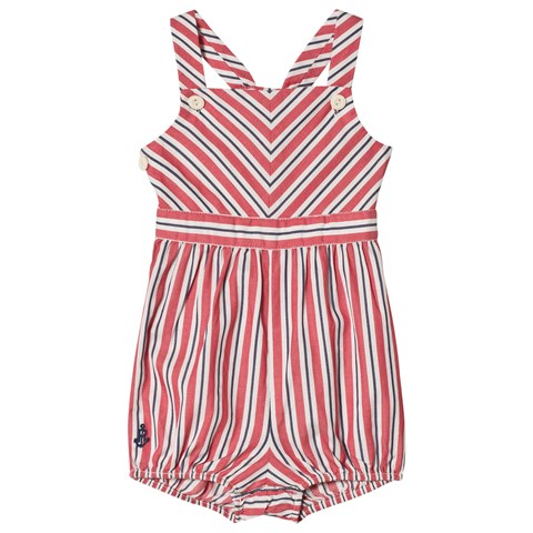 Ralph Lauren Red Chevron Stripe Bubble Playsuit