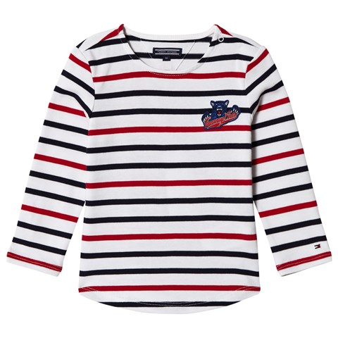 ee864daf660705 Tommy Hilfiger White, Red and Navy Long Sleeve T-Shirt | AlexandAlexa