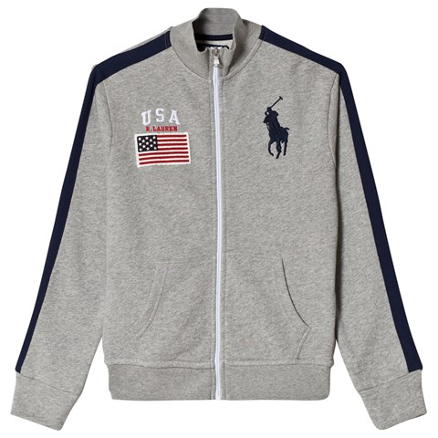 Ralph Lauren Grey USA Track Jacket