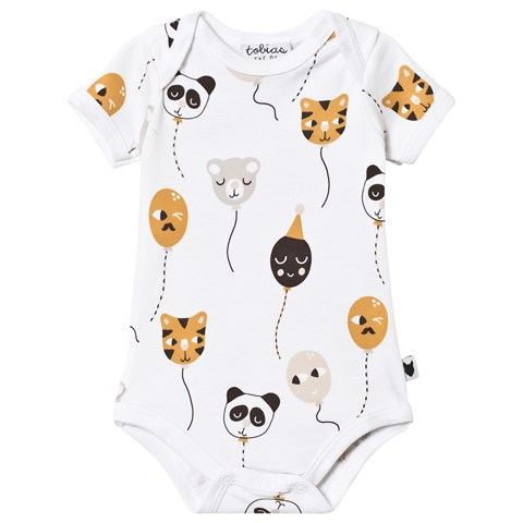 Tobias & The Bear White Balloon Buddies Romper