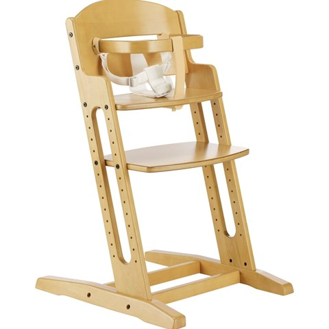 Baby Dan Brown Wooden Chair with Strap
