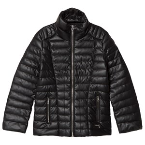 GUESS | Guess Black Pleather Padded Jacket 7 Years | Goxip