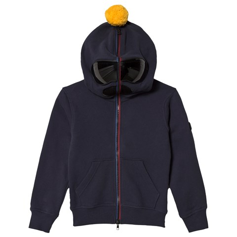 AI Riders on the Storm Navy Goggle Hooded Sweatshirt