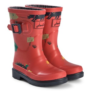 Joules Red And Green Dino Scout Wellington Boots 36 (UK 3)