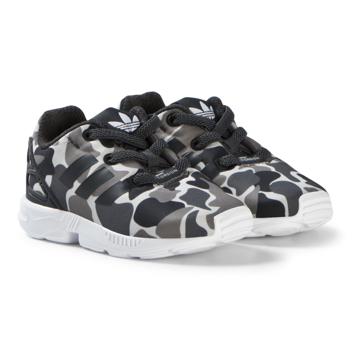 0c50a02678eb6 adidas Originals Grey Camo Print ZX Flux Trainers
