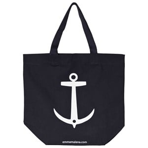 EMMA OCH MALENA | Emma Och Malena Navy And White Anchor Bag One Size | Goxip