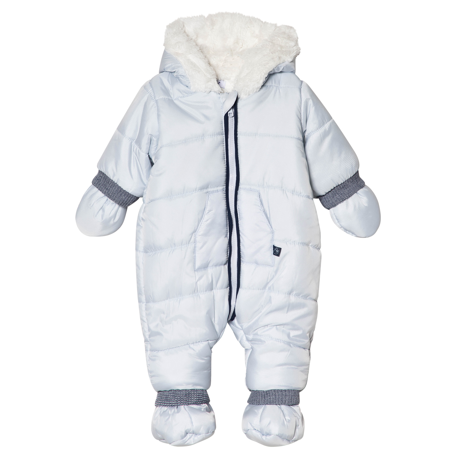 aba88726dafb Absorba Pale Blue Faux Fur Lined Hooded Snowsuit with Booties and ...
