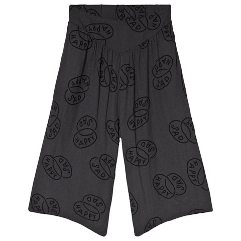 Bobo Choses Black Happy Sad Flared Culotte Trousers