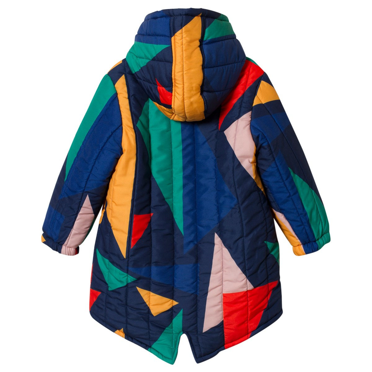 Bobo Choses Medieval Blue And Yellow Geometric Hooded Padded Anorak ... 6af095750