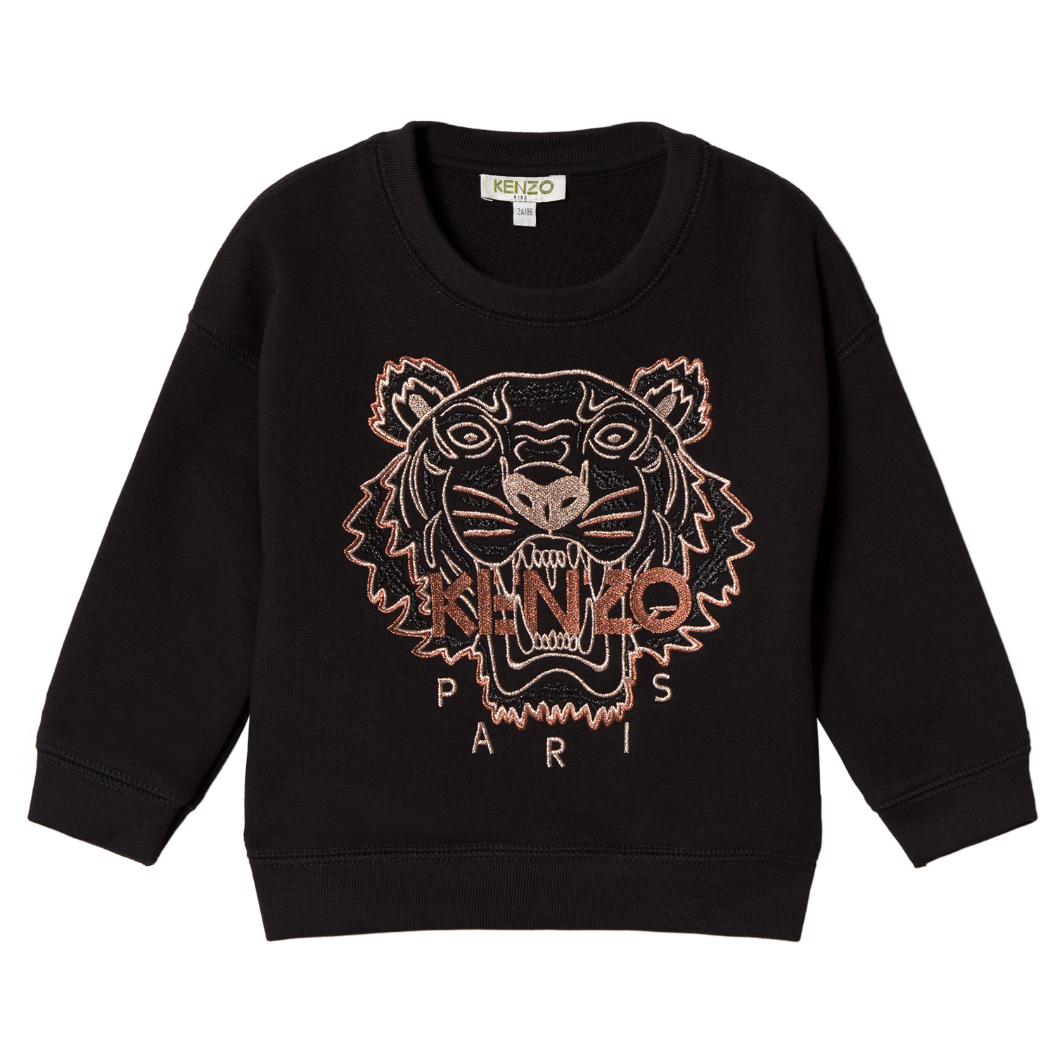 0d99d65d Kenzo Kids Black and Gold Embroidered Tiger Sweatshirt | AlexandAlexa