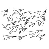 Chispum Paper Plane Wall Stickers