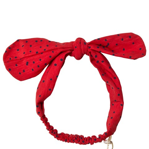 Soft Gallery Mars Red Mini Dots Bow Hairband