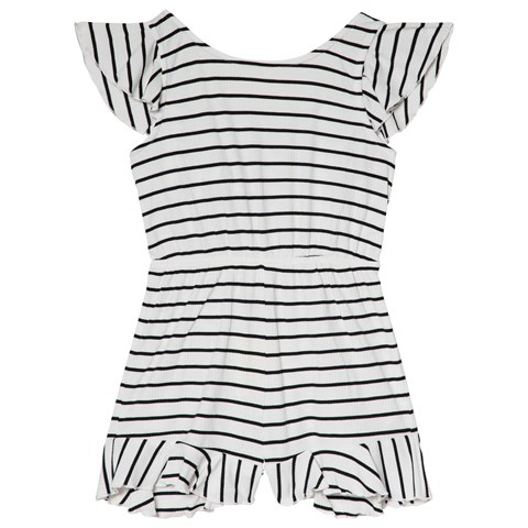 a8d6e9f3cc2 Bardot Junior Black and White Frill Detail Playsuit