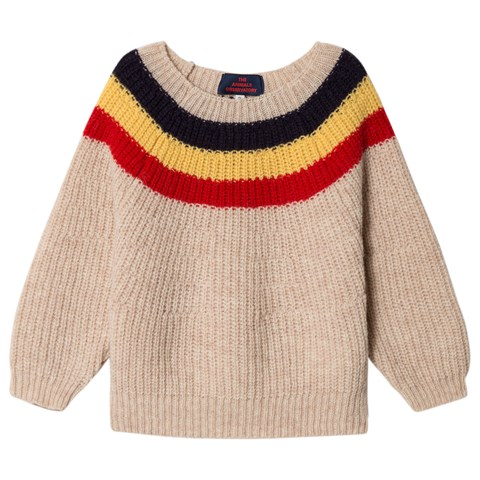 The Animals Observatory Soft Beige Raven Kids Jumper