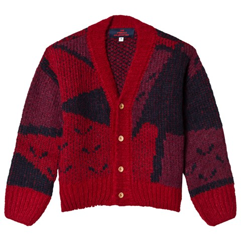The Animals Observatory Red Apple Arty Peasant Kids Cardigan