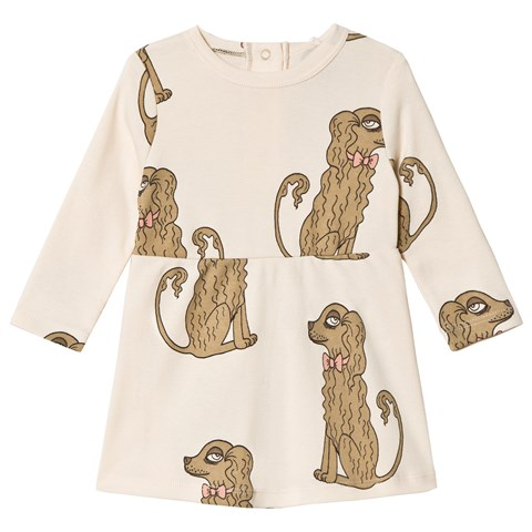 Mini Rodini Off-White Spaniel Dress