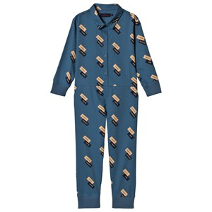 "TINYCOTTONS | Tinycottons Navy And Dark Nude ""English Domino"" Long One-Piece 8 Years 