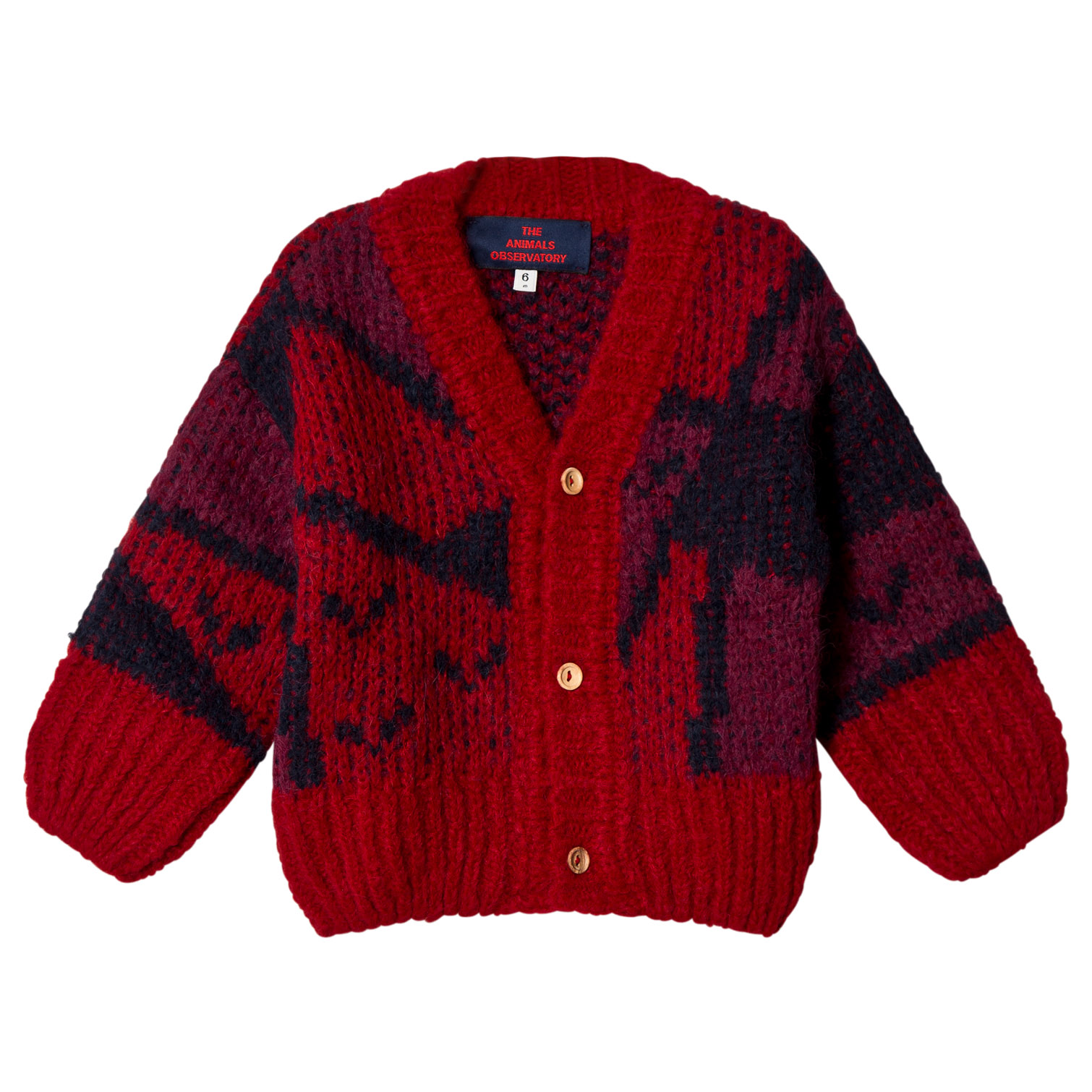 ad5a7ea7c16f The Animals Observatory Red Apple Arty Peasant Babies Cardigan ...