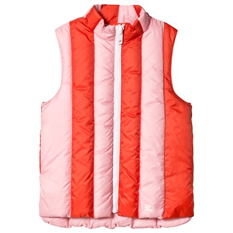 Burberry Coral and Pink Ardelle Padded Gilet