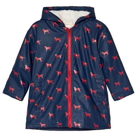42dd367430 Hatley Navy with Red Labs Sherpa Lined Splash Jacket | AlexandAlexa