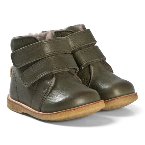 Bisgaard Green Army Velcro TEX Boots
