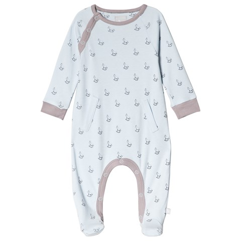 The Little Tailor Blue Rocking Horse Babygrow