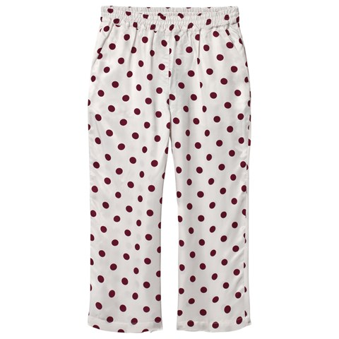 Little Remix Cream and Burgundy Dotty Kevin Pants