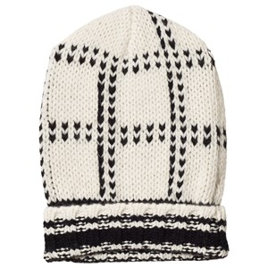 BONPOINT | Bonpoint Cream and Black Knit Hat T5 (10-12 years) | Goxip