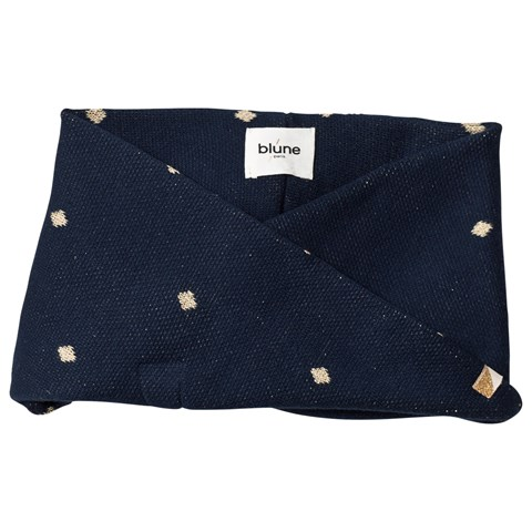 Blune Navy and Gold Diamond Snood