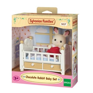 Sylvanian Families Chocolate Rabbit Baby Set (Baby Bed) 3 - 10 years
