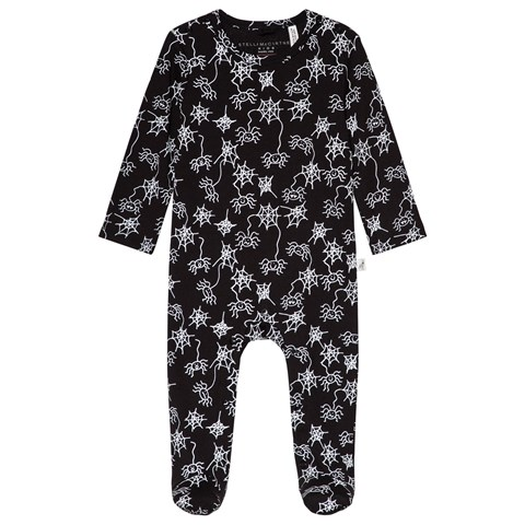Stella McCartney Kids Black Twiddle Halloween Onesie