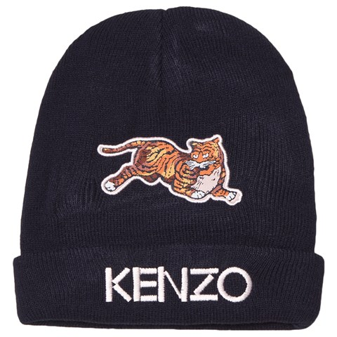 fb1f51cb Kenzo Kids Navy Tiger Embroidered Beanie | AlexandAlexa
