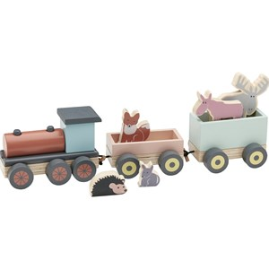 Kids Concept Edvin Wooden Train In Blue