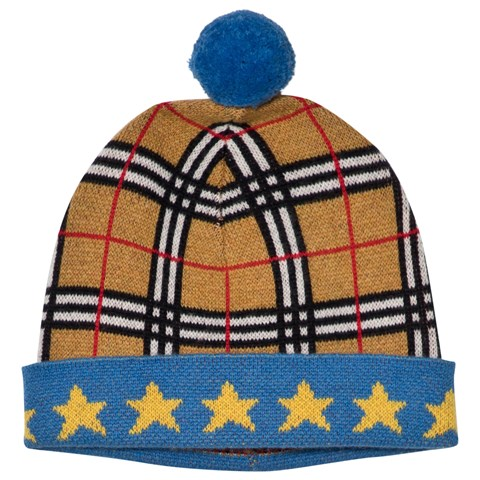 Burberry Classic Check and Star Multi Pattern Cashmere Hat ... ab2d8ba0f38