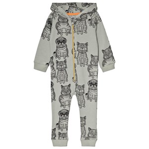 FILEMON KID | Filemon Kid Desert Sage Fat Cat And Pug Print Onesie 92/98 Cm | Goxip